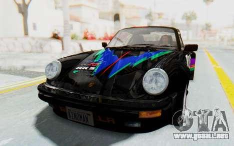 Porsche 911 Turbo 3.2 Coupe (930) 1985 para la vista superior GTA San Andreas