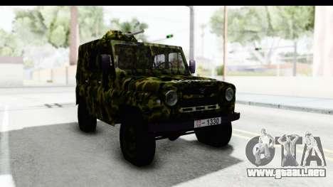 UAZ-469 de la policía Militar de Serbia para la visión correcta GTA San Andreas