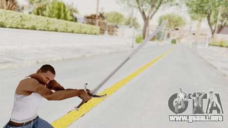 The Witcher 3: Wild Hunt - Sword v1 para GTA San Andreas tercera pantalla