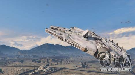 GTA 5 Star Wars Millenium Falcon 5.0 segunda captura de pantalla