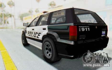 Canis Seminole Police Car para GTA San Andreas left