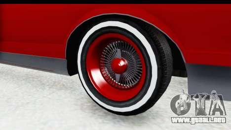 Chevrolet Monte Carlo Breaking Bad para GTA San Andreas vista hacia atrás