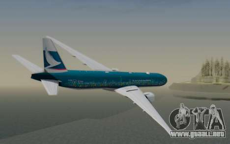 Boeing 777-300ER Cathay Pacific Airways v2 para GTA San Andreas left