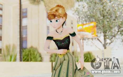 Frozen - Anna Coronation Dress para GTA San Andreas
