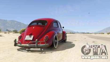 GTA 5 1963 Volkswagen Beetle 1.0.1 vista trasera
