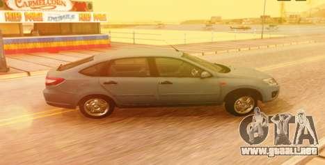 Lada Granta Liftback Beta v1 para GTA San Andreas vista posterior izquierda