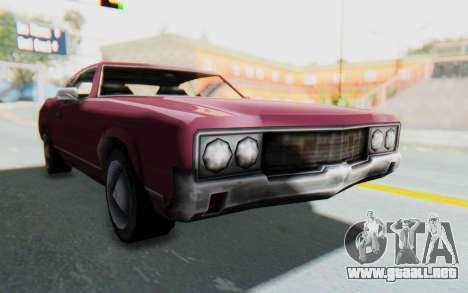 GTA VC Sabre para GTA San Andreas vista posterior izquierda