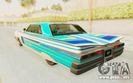 GTA 5 Declasse Voodoo Alternative v2 para la vista superior GTA San Andreas