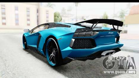 Lamborghini Aventador LP700-4 Novitec Torado para visión interna GTA San Andreas
