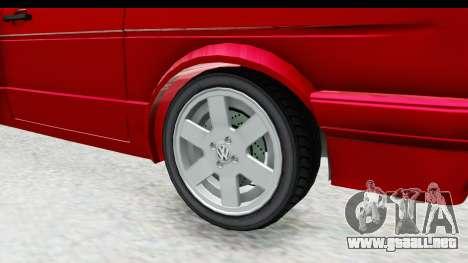 Volkswagen Golf Citi 1.8 1998 para GTA San Andreas vista hacia atrás
