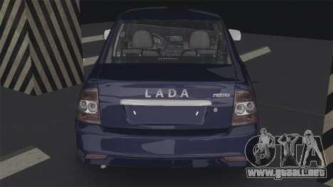 Lada Priora 2170 para GTA San Andreas vista posterior izquierda