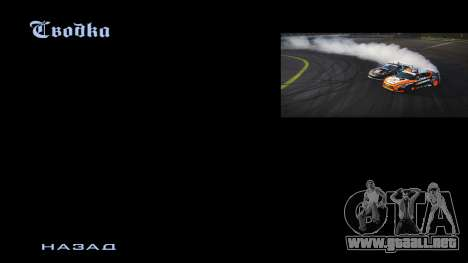 New menu para GTA San Andreas tercera pantalla