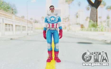 Marvel Heroes - Capitan America Sam Wilson para GTA San Andreas segunda pantalla