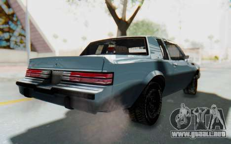 Buick GNX 1987 para GTA San Andreas vista posterior izquierda