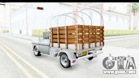 Chevrolet 3100 Diesel v1 para GTA San Andreas vista posterior izquierda