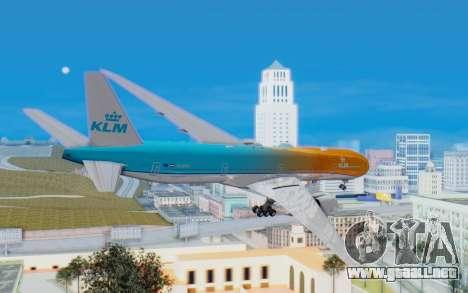 Boeing 777-300ER KLM - Royal Dutch Airlines v4 para la visión correcta GTA San Andreas