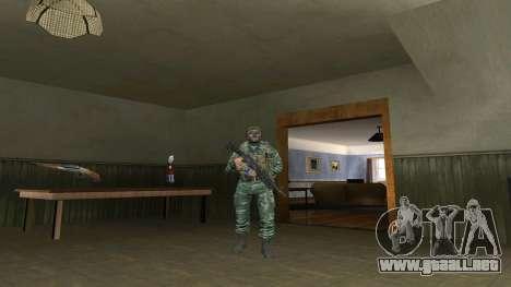 El aire de soldado en el camuflaje de abedul para GTA San Andreas