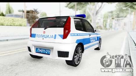 Fiat Punto Mk2 Policija para GTA San Andreas left