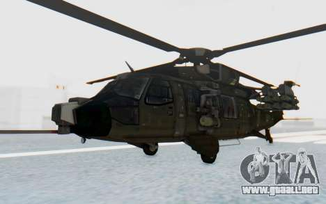 MGSV Phantom Pain UTH-66 Blackfoot para GTA San Andreas vista posterior izquierda