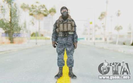 COD BO Russian Soldier Winter Balaclava para GTA San Andreas segunda pantalla