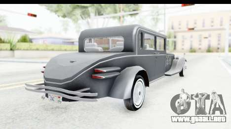 Unique V16 Sedan para GTA San Andreas left