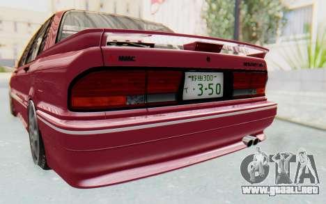 Mitsubishi Galant VR4 1992 para vista lateral GTA San Andreas