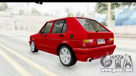 Volkswagen Golf Citi 1.8 1998 para GTA San Andreas left