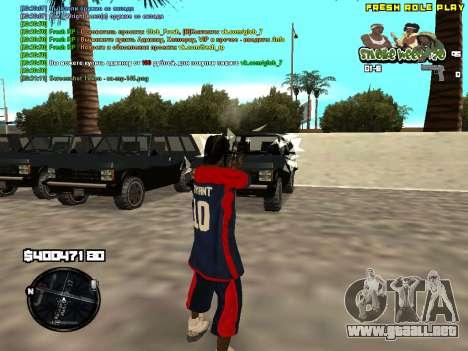 C-HUD Smoke Weed 420 para GTA San Andreas segunda pantalla