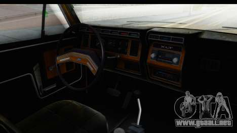 Ford Bronco 1980 Roof IVF para visión interna GTA San Andreas