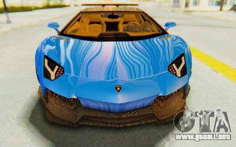 Lamborghini Aventador LP700-4 LB Walk Fenders para la vista superior GTA San Andreas