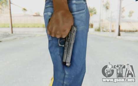 Tariq Iraqi Pistol Back v1 Silver para GTA San Andreas tercera pantalla