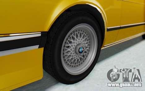 BMW M635 CSi (E24) 1984 HQLM PJ2 para GTA San Andreas vista hacia atrás