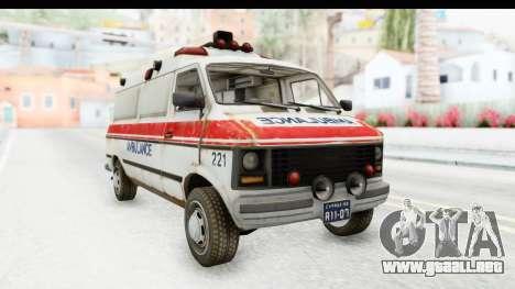 MGSV Phantom Pain Ambulance para GTA San Andreas
