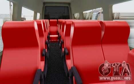 Iveco Daily Minibus 2015 para visión interna GTA San Andreas