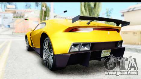 GTA 5 Pegassi Reaper v2 IVF para GTA San Andreas vista posterior izquierda
