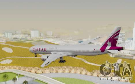 Boeing 777-300ER Qatar Airways v1 para GTA San Andreas left