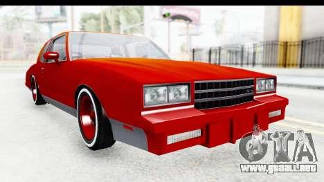 Chevrolet Monte Carlo Breaking Bad para la visión correcta GTA San Andreas