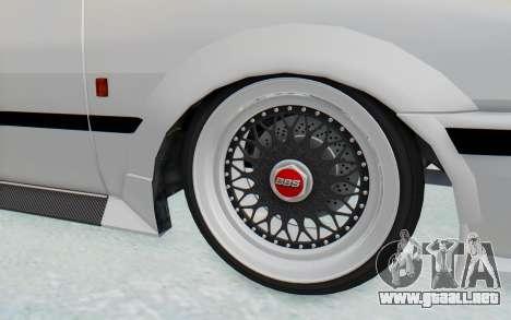 GTA 5 Futo Drift para GTA San Andreas vista hacia atrás