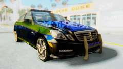 Mercedes-Benz E63 German Police Blue-Yellow