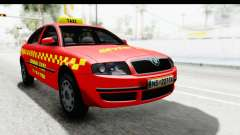 Skoda Superb Taxi De Color Rojo para GTA San Andreas