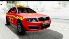 Skoda Superb Taxi De Color Rojo