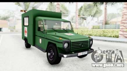 Mercedes-Benz Wolf Vojno Ambulantno Vozilo para GTA San Andreas
