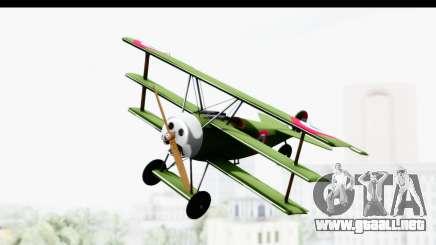 Fokker DR1 Old Paraguay Air Force para GTA San Andreas