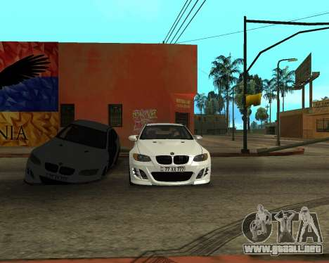 BMW M3 Armenian para la vista superior GTA San Andreas