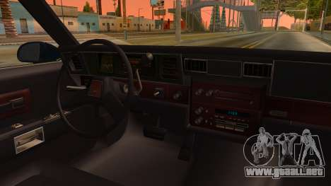 Chevrolet Caprice 1989 Station Wagon IVF para visión interna GTA San Andreas