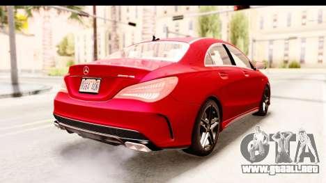 Mercedes-Benz CLA45 AMG 2014 para la visión correcta GTA San Andreas