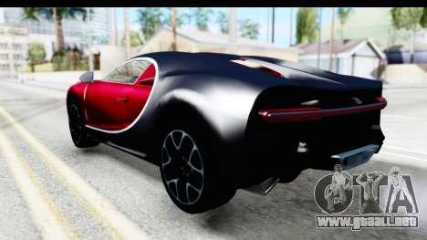Bugatti Chiron 2017 v2 para GTA San Andreas left