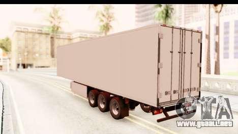 Trailer ETS2 v2 New Skin 1 para GTA San Andreas vista posterior izquierda