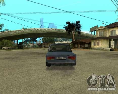 VAZ 2107 Armenian para GTA San Andreas vista hacia atrás