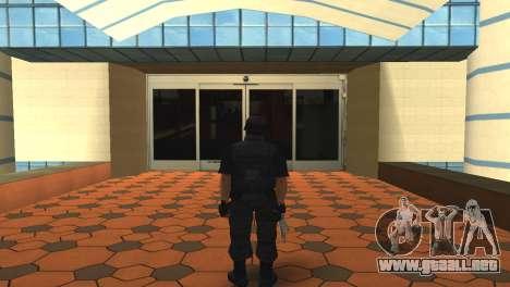 Modificado de la piel original SWAT para GTA San Andreas segunda pantalla